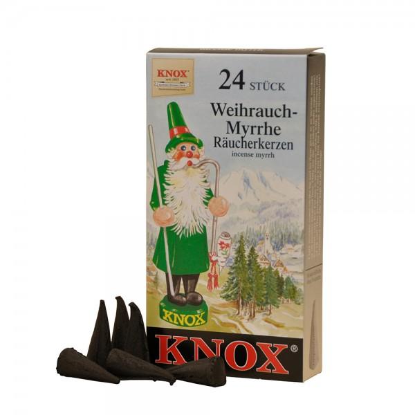 Knox Räucherkerzen 24 Stück - Weihrauch