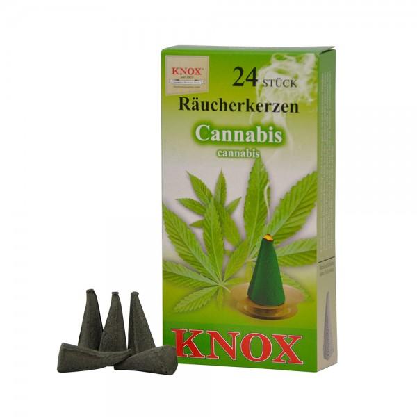 Knox Räucherkerzen 24 Stück Cannabis Duft