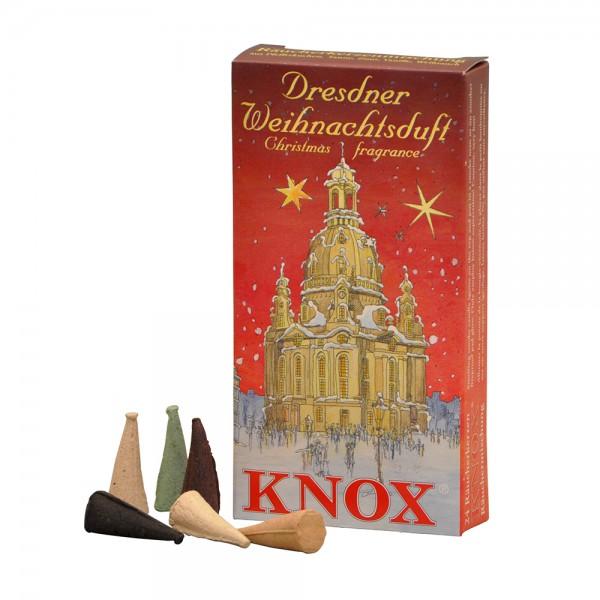 Knox Räucherkerzen Dresdener-Weihnachtsduft-Mischung mit fünf Düften