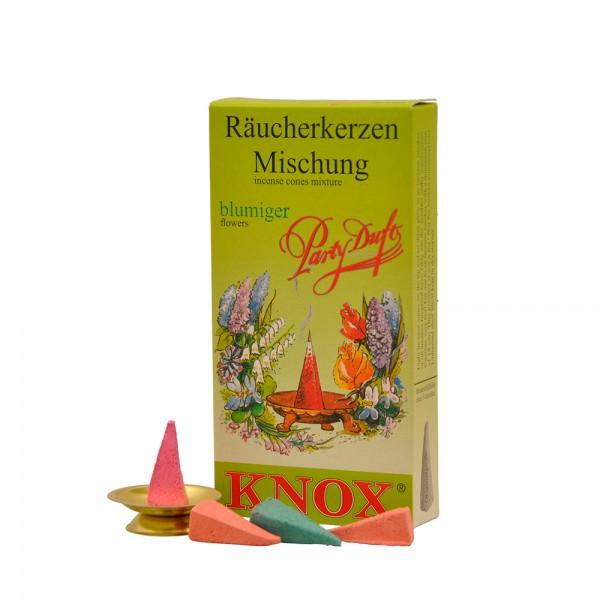 Knox Räucherkerzen 24 Stück Blumige Düfte