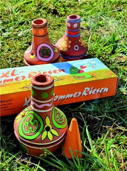 Sommerräucherset - Feuertöpfchen INDIGO und Sommerriesen