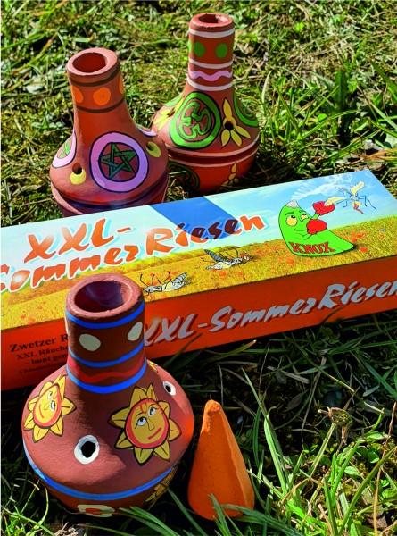 Sommerräucherset - Feuertöpfchen SONNE und Sommerriesen